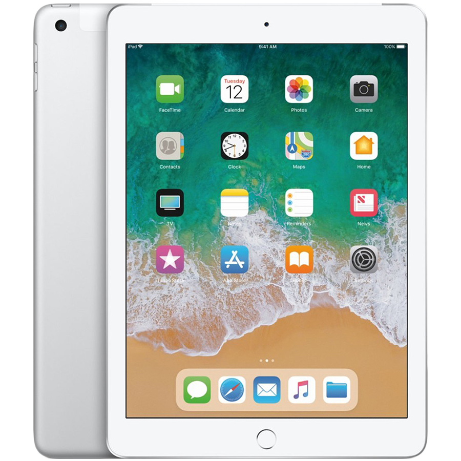 iPad 2018, 32 ГБ , Wi-Fi+4G, Серебристый