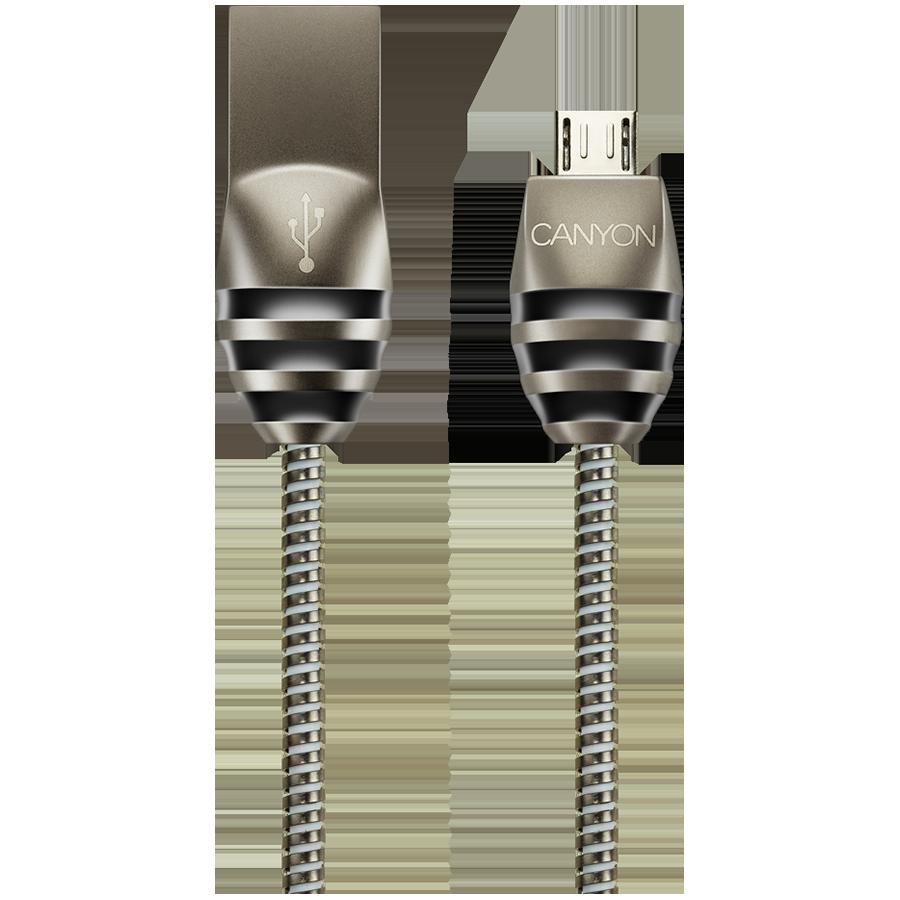Купить Кабель-переходник с USB на microUSB CANYON