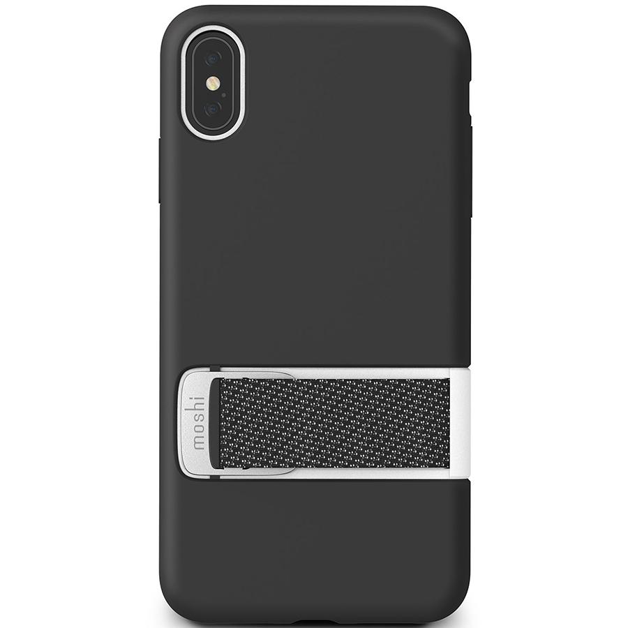 Купить Чехол Moshi Capto с ремешком MultiStrap для iPhone XS Max. Материал пластик. Цвет черный.