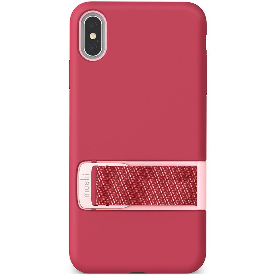 Купить Чехол Moshi Capto с ремешком MultiStrap для iPhone XS Max. Материал пластик. Цвет малиновый розовый.