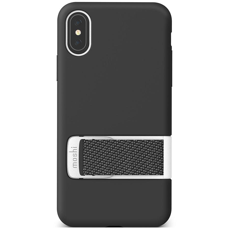 Купить Чехол Moshi Capto с ремешком MultiStrap для iPhone XS/X. Материал пластик. Цвет черный.