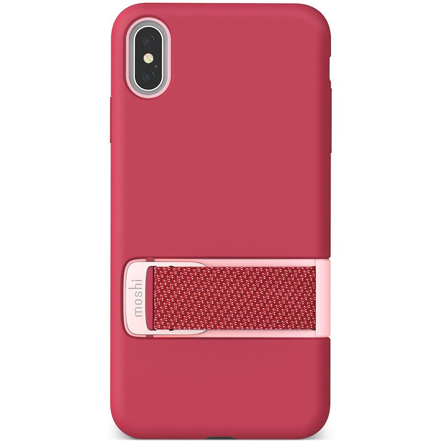 Купить Чехол Moshi Capto с ремешком MultiStrap для iPhone XS/X. Материал пластик. Цвет малиновый розовый.