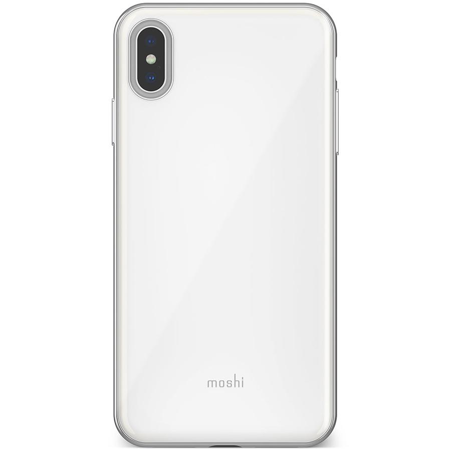 Купить Чехол Moshi iGlaze для iPhone XS Max. Материал пластик. Цвет жемчужно-белый.